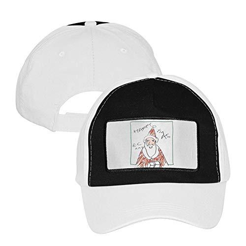 Fenghual Happy Xmas Adjustable Grid Baseball Cap Snapback Washed Dad Hat Trucker Cap for Mens Womens