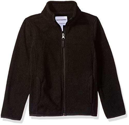 Amazon Essentials Girl's Full-Zip Polar Fleece Jacket, Black, XX-Large