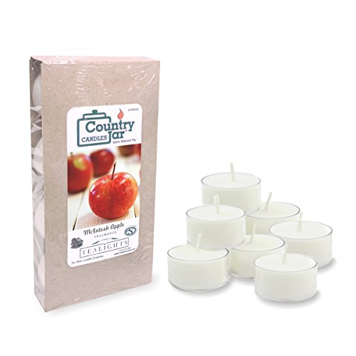 - Country Jar MCINTOSH Apple Soy Tea Light Candles (8-Pack/.75 oz. ea.) Spring Pick-3 Sale! See Details.