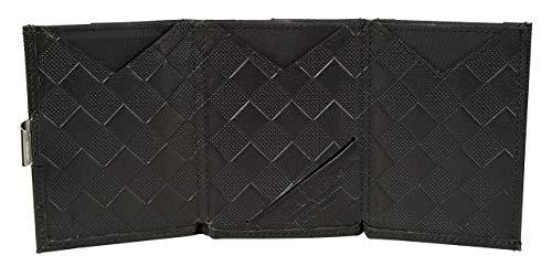 f9ab52ee885 EXENTRI WALLET in Black Chess - Premium RFID Blocking Trifold Leather Wallet  with Stainless Steel Locking Clip: Amazon.de: Koffer, Rucksäcke & Taschen
