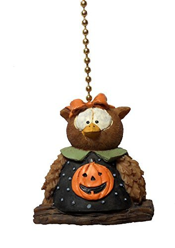 Halloween Pumpkin Owl Ceiling Fan Pull Fall Holiday Decoration