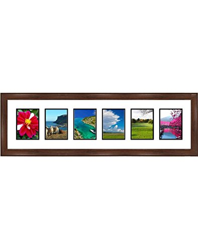 e253e85ba92 Frames By Mail multimat-58663-610 Six Square Opening Collage Frame for 5