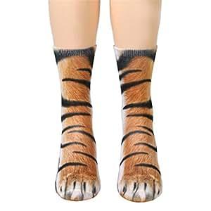 victorcn niños Kids calcetines de pata de animal impresión sublimada