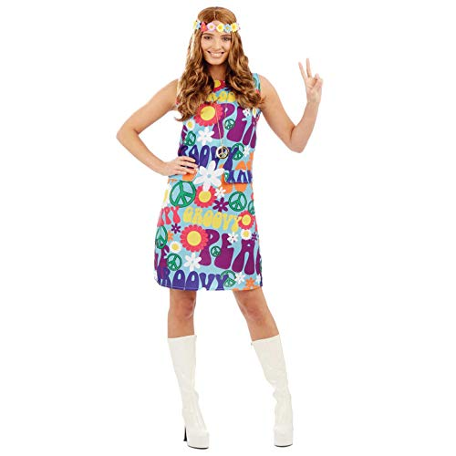 fun shack Women's, Groovy Hippie Dress, -