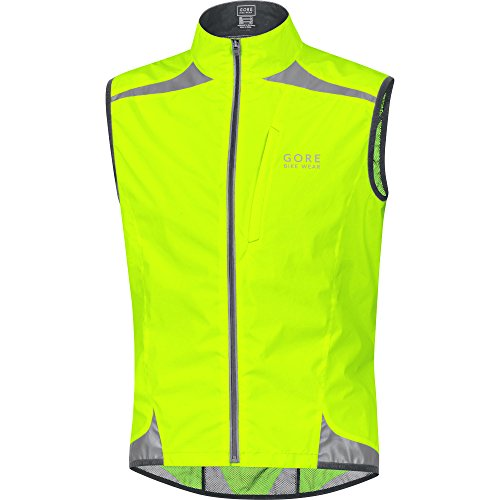 para Active Chaleco Neón Bike Shell Gore Amarillo Wear hombre Visibility Windstopper 0WIYp