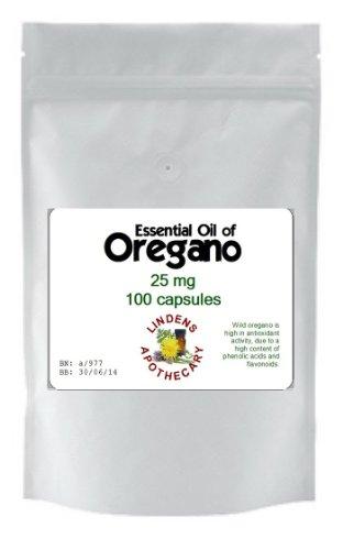 Essential Oil of Oregano 100 x 25mg Kapseln - Candida