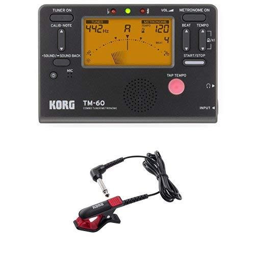 KORG 튜너/메트로놈 TM-60 BK 튜너 전용 마이크 부착