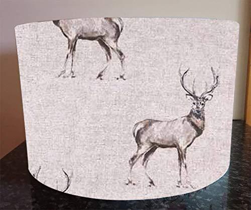 Handmade Lampshade made with Glencoe Stag Fabric Deer Lamp Shade Light 20cm 30cm 40cm