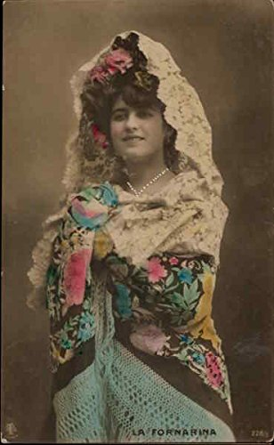 La Fornarina Women Original Vintage Postcard