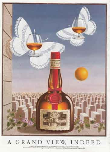 1990 Grand Marnier Liqueur: A Grand View, Butterflies, Grand Marnier Print Ad (Grand Marnier Liqueur)