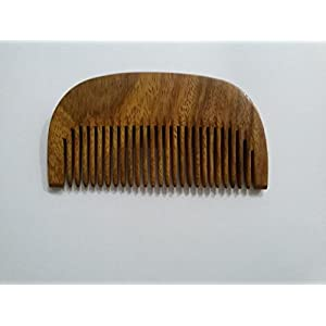 Fedora Natural Sisham Wooden Beard Comb with Joint Teeth(9.5cm)