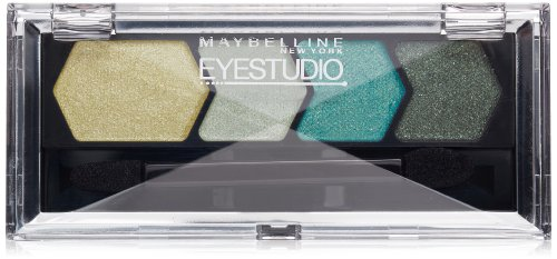 Maybelline New York Silk Eyeshadow Quad, Gutsy Green, 0.09 O