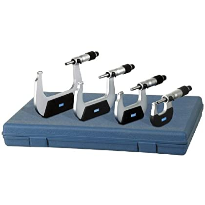 Image of Fowler & Nsk 72-229-104 0-4' Micrometer Set - 4 Piece Calipers