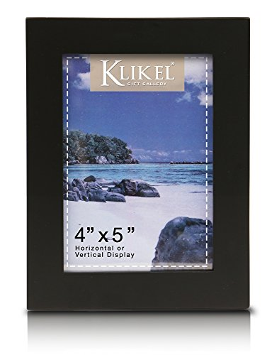 Klikel 4 X 5 Black Wooden Picture Frame - Black Wooden Wall