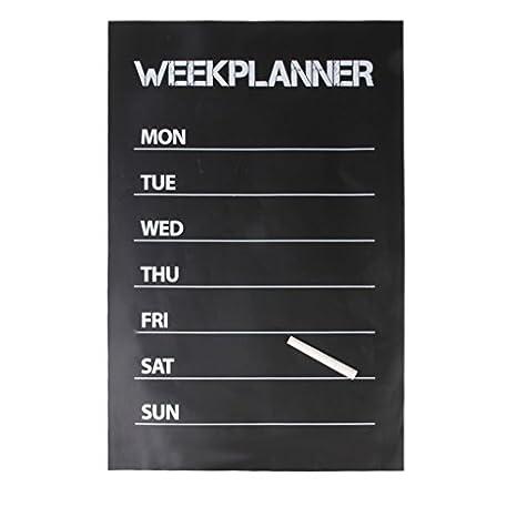 Planificador semanal pizarra pared - adhesivo Plus 1 tiza 45 ...