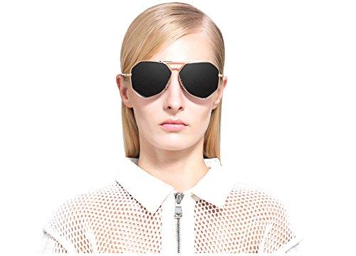 Women Irregular Mirrored Flat Lenses Street Fashion Oversized
