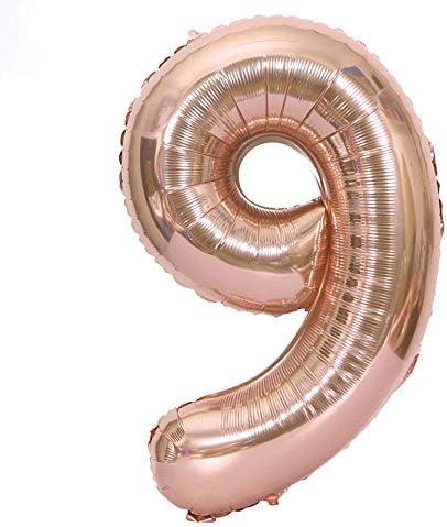 数字バルーン GerTong 40インチ パーティーバルーン 文化祭・誕生日・結婚式・プロポーズ・クリスマス・パーティー・記念日 アクセサリー (数字9)