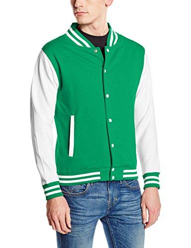 Awdis Green Shirt Varsity Multicolored Jacket Sweat Homme White Kelly rxrFBwq