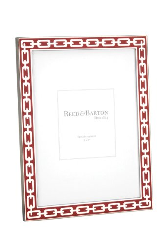 Reed & Barton Silver Link 5 by 7-Inch Frame, Poppy