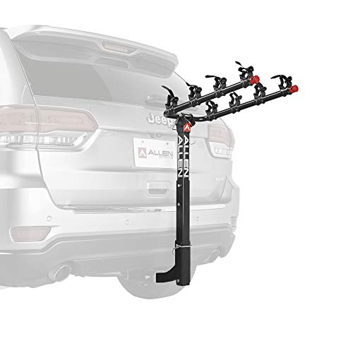 Allen Sports Deluxe 4-Bike Hitch Mount Rack with 2-Inch Receiver (Rack Ski Tire Jeep)