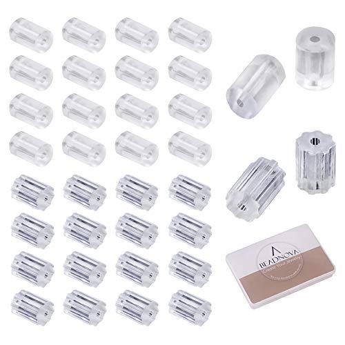 - BEADNOVA Silicone Earring Backs Earring Stoppers for Wire Earrings and Sensitive Ears(500pcs)