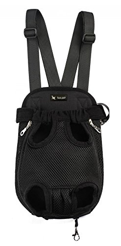 Happy Hours Cool Black Pet Product Backpack Dog Cat Bag Chest & Back Pack Dog Carrier Legs Out Front Style Pets Supplies, Size M Review