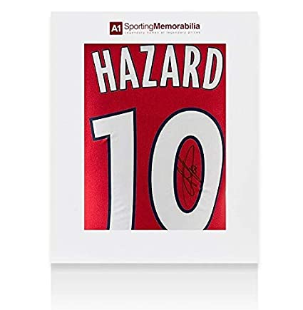 e2812d336 Eden Hazard Signed Lille OSC Shirt 2011 12 Number 10 - Gift Box Autograph - Autographed  Soccer Jerseys at Amazon s Sports Collectibles Store