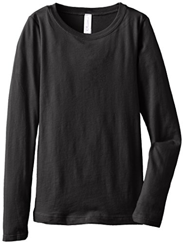 Clementine Big Girls' Everyday Long Sleeve Tee, Black,X-Large (14-16) - Ringspun Dance T-shirt