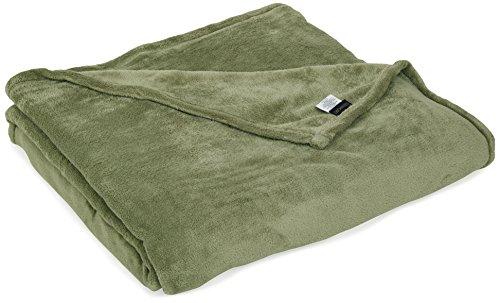Supreme Plush Blanket - Northpoint Newport Micro Fleece Plush Blanket, King, Sage