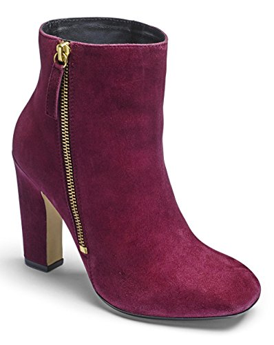 Womens Sole Diva Square Toe Boots Berry, 5