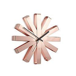 Umbra Ribbon Wall Clock, Copper