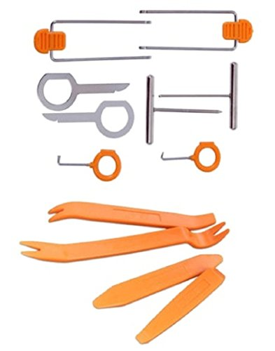 ANJOSHI 12 Pcs Auto Car Radio Video Door Clip Panel Trim Dash Audio Removal Pry Installer Tool