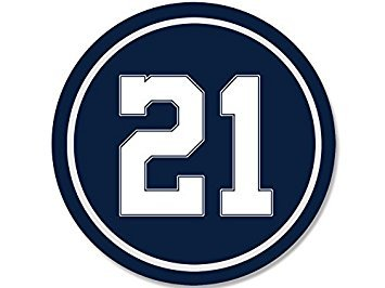MAGNET ROUND #21 Ezekiel Elliott Cowboys Colors Magnet(dallas 21 number elliot) Size: 4 x 4 inch ()