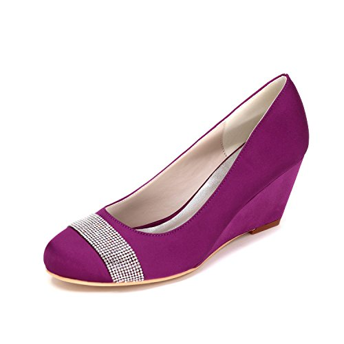 L Wedding Purple Comfortable High Shoes Women'S 9140 YC Yards Large Wedge Heeled Customization Wedge Multi 04 Color qBTpqS