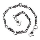 Uniqsum Confront Dragon wallet chain Swivel Trigger snap Jean Biker Punk Key chain (A Silver)