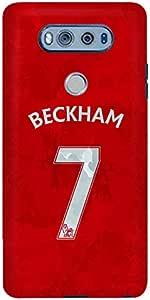 Stylizedd LG V20 Slim Snap Case Cover Matte Finish - Beckham Jersey