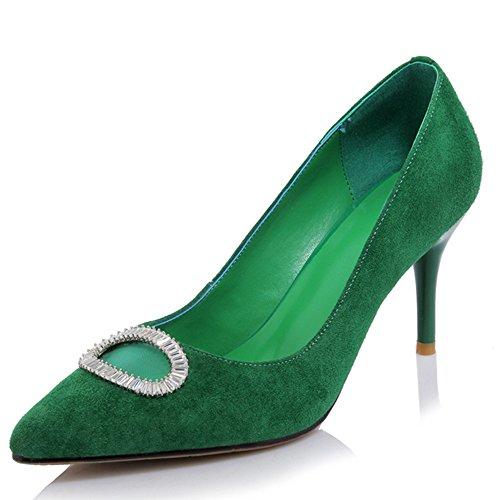Nine Sandalias Verde cuña mujer con SevenPumps wTxqz5P4q7