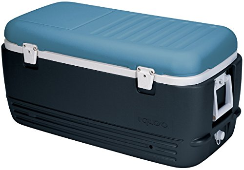 Igloo MaxCold Cooler, Jet Carbon/Ice Blue/White, 100 - Carbon Ice