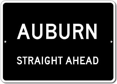 Custom Aluminum Sign - AUBURN, KENTUCKY US City Straight Ahead Sign
