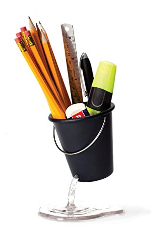 Pen and Pencil Caddy Desk Bucket by Peleg Design Studio. Funny Pen Holder.