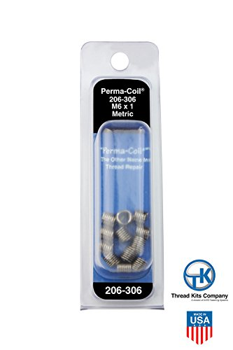 Perma-Coil 206-306 Metric Thread Insert Pack M6X1 12PC Helicoil 5546-6 (Kits Perma Coil)