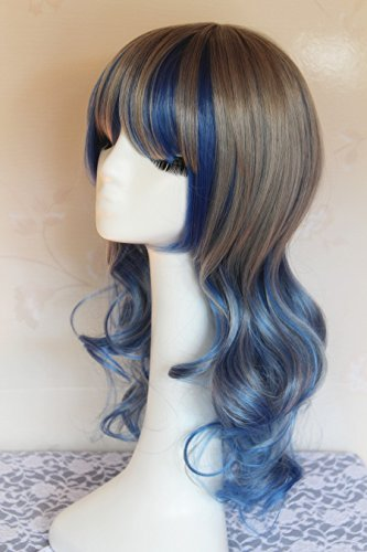 Amazon.com : 60cm Long Color Mixed Lolita Wigs, Silver Grey to Light Purple Ombre Colors Curly Anime Cosplay Wig : Beauty