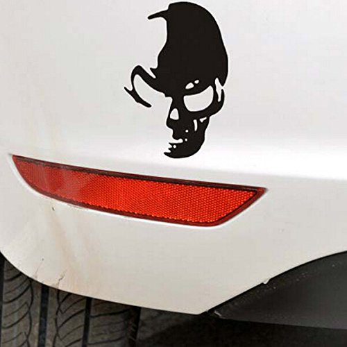 Exterior Accessories - Punisher Decal Skull Decals Cars Skeleton Stickers Window White - Car Skull Sticker Decal Window Truck Bumperr Styling Reflective Waterproof - - 1PCs -