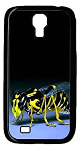 3D Bee Custom Designer Samsung Galaxy S4 SIV I9500 Case Cover - Polycarbonate - Black