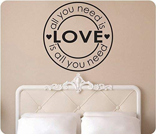 - 24 All You Need is Love Beatles Hearts Wall Decal Sticker Art Mural Home Dcor Quote Bedroom Sign Deco Song
