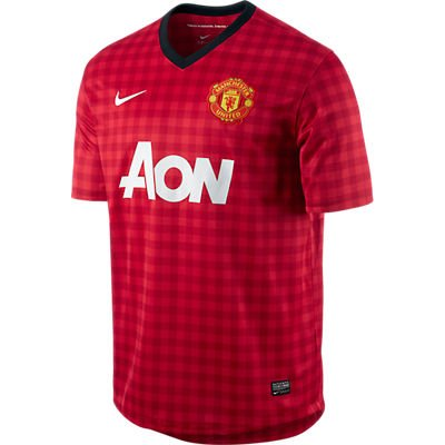 ed Short Sleeve Home Replica Jersey [Diablo Red] (XL) (Manchester United Replica Jersey)