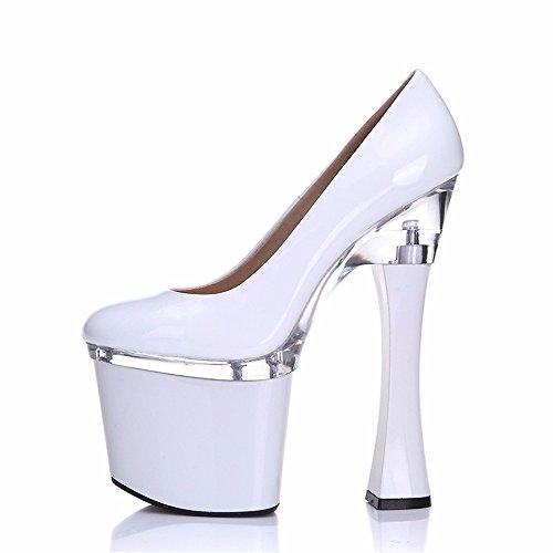 de de fiesta La y la moda zapatos de alto zapatos de de personalidad señoras primavera cuero tacón FLYRCX sexy el white otoño zapatos USAqq