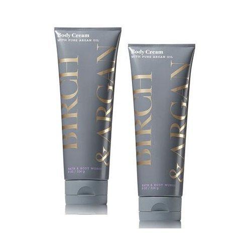 Body Amber Cream (Bath and Body Works 2 Pack Birch & Argan Body Cream with Argan Oil 8 Oz.)