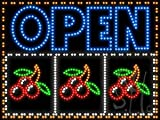 Open Slot Machine LED Animated Outdoor LED Sign 24'' Tall x 32'' Wide x 3.5'' Deep