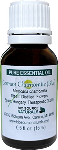 German Chamomile (Blue) (Matricaria chamomilla) Pure Essential Oil 0.5 fl oz / 15 ml - Therapeutic Quality - Useful for Restful Sleep, Inflammation, Uplifting and Calming (Best Fennel Bulb Recipes)